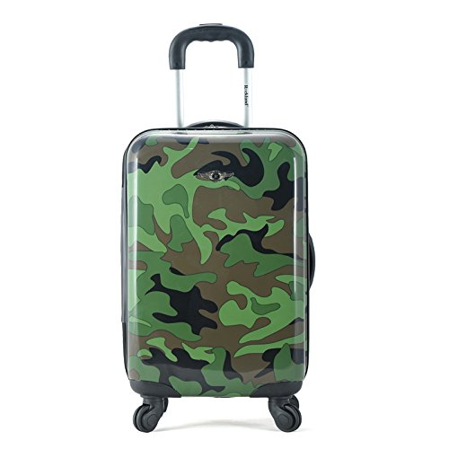 Rockland Safari Hardside Spinner Wheel Luggage, Camouflage