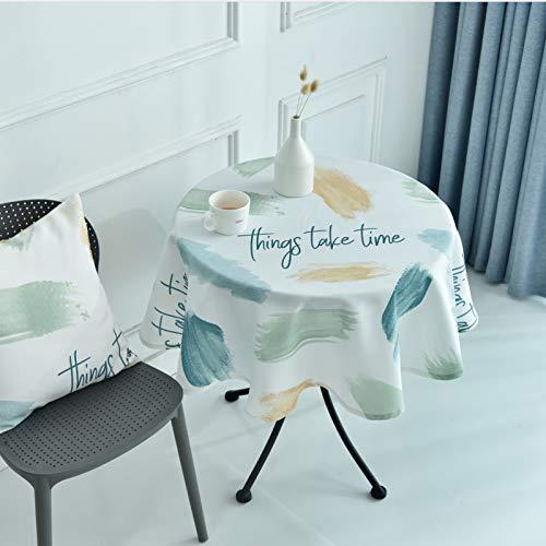 LIUJIU Home Nappe de Table carrée résistante à la saleté et à l'eau Effet Lotus Facile d'entretien Disponible en différentes Tailles e,diameter120cm