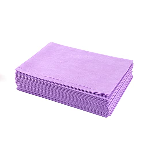 Disposable Massage Table Sheets Purple,20Pcs Massage Bed Cover for massage table,Lash Bed,Spa Table,Wax Table,Tattoo chair, Salon Table,31.5''x70''Breathable Non Woven Fabric