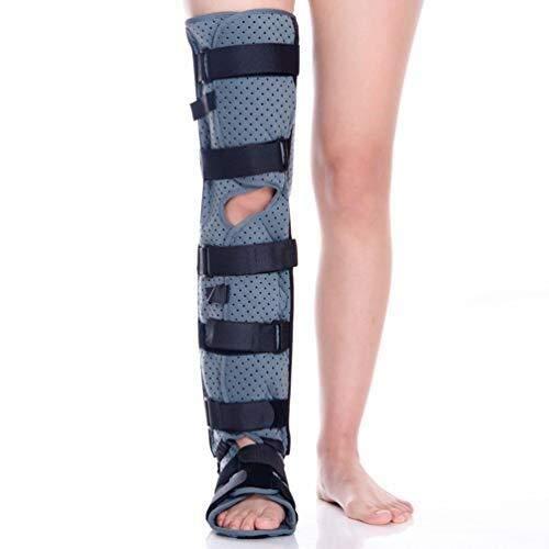 Pedales Estaticos Inmovilizador de rodilla completa Aparato ortopédico de pierna - transpirable y ligera Fijación férula ortopédica Guardia Protector inmovilizador Brace for Lesiones vendaje d