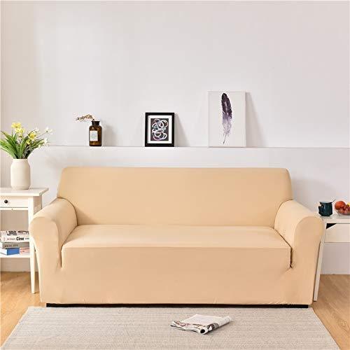 ASCV Fundas de sofá de Spandex para Sala de Estar Color sólido seccional en Forma de L Funda de Esquina Funda de sofá Protector de Silla A6 1 Plaza