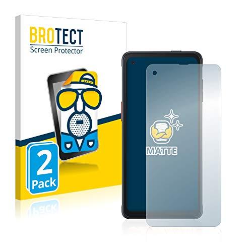 BROTECT 2X Entspiegelungs-Schutzfolie kompatibel mit Samsung Galaxy XCover Pro Bildschirmschutz-Folie Matt, Anti-Reflex, Anti-Fingerprint