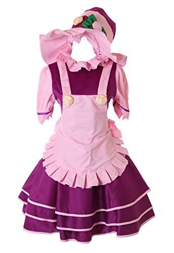 Kawaii-Story MN-86 Lulu LOL Leage Legends Kostüm Kleid 3-teilig Set Faschings Cosplay Anime Manga Verkleidung (XL)