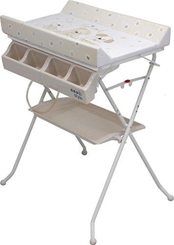 IB-Style - Table à langer pliable avec baignoire - Commode avec matelas à langer| Décor'Friends'