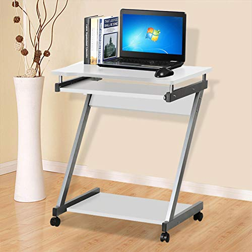 Yaheetech Stable Computer Desk Z-Shaped PC Table with Sliding...