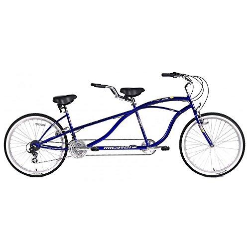 Micargi Island Tandem Bicycle, Blue, 26-Inch