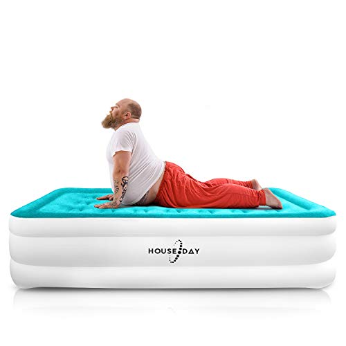 HOUSEDAY Twin Air Mattress with Built- Raised Electric...