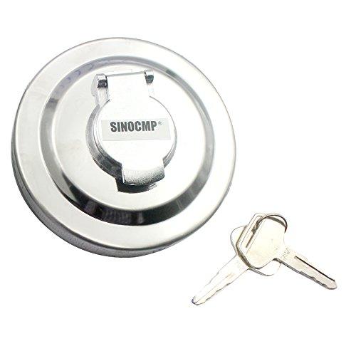 SINOCMP 20Y-04-11160 20Y-04-11161 Tappo Serbatoio Carburante con 2 chiavi per Komatsu PC130 PC138 PC210 PC200 PC350 PC360 PC450 PC490,3 mesi di garanzia