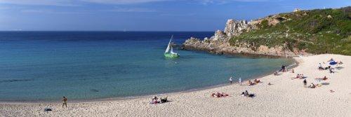 Santa Teresa Gallura Beach, Province of Olbia-Tempio, Sardinia, Italy Giclee Art Print Poster or Canvas