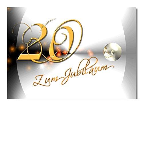 DigitalOase Jubiläumskarte 20. Jubiläum A5 Glückwunschkarte Grußkarte Klappkarte Umschlag #YANG
