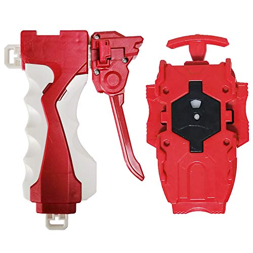 Red Beyblades Launcher and Grip Battling Burst String Launcher Gyro Light Sparking Left/&Right LR Spin Top Compatible with All Bey Burst Series Bey Battling Beyblades