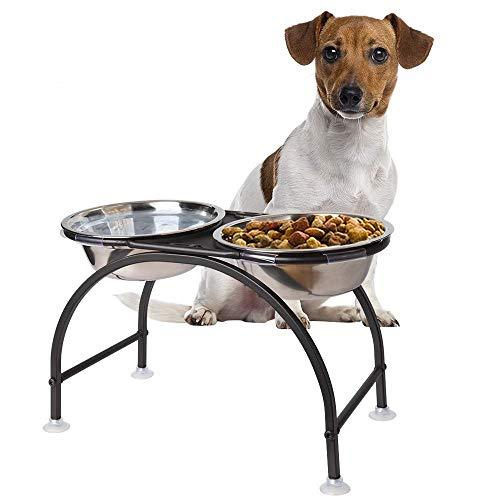 HomeMall Hundebar Hundenapf,Futternapf Napfständer Hundebar Hundnäpfe für Hund (Mittlerer Hund)
