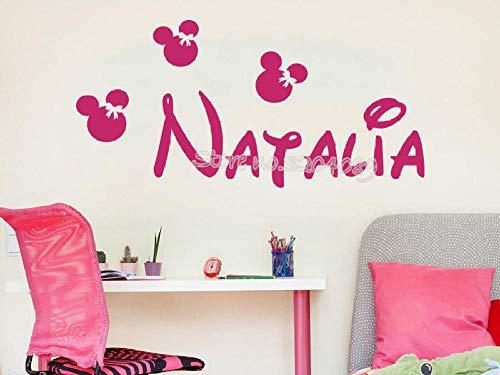 Op maat gemaakte gepersonaliseerde kopsticker behang aangepaste naam meisjes slaapkamer kamer vinyl sticker behang EA700 @ lichtgrijs_117x56cm
