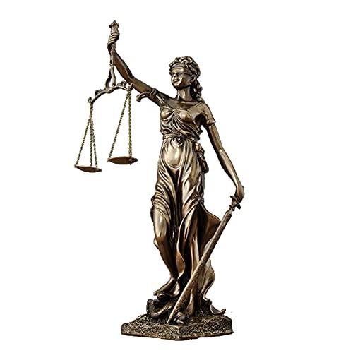 Figura de resina para sujetalibros de la diosa romana de Lad