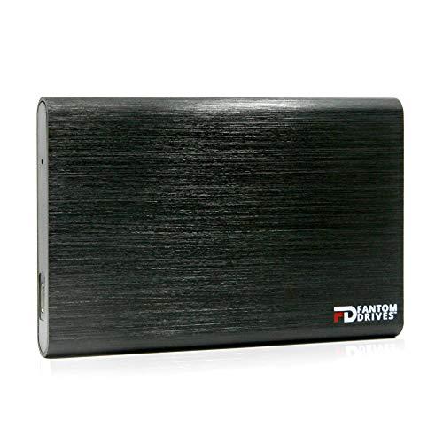 Fantom Drives 2TB Portable SSHD (Solid State Hybrid Drive) - USB 3.1 Gen 2 Type-C 10Gb/s - Black