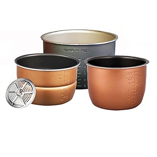 PPuujia Cuenco para mezclar Tazón de olla a presión eléctrica (Color: 4 L individual)