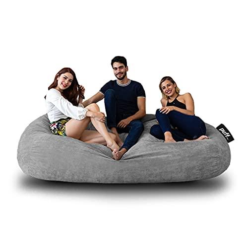 Sofá con cama Tamaño King size hasta para tres personas, ideal para adolescentes y adultos con relleno de hule espuma muy cómodo para pasar grandes momentos de descanso, acabado en velvet suave, resistente sillón perfecto interiores. (Gris Claro)