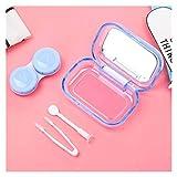 Estuche para lentes de contacto 1 Cuidado de Lentes de Contacto Conjunto del ojo insertador removedor de silicona suave de la extremidad de las pinzas palillo de la caja Set Herramientas de uso Contac