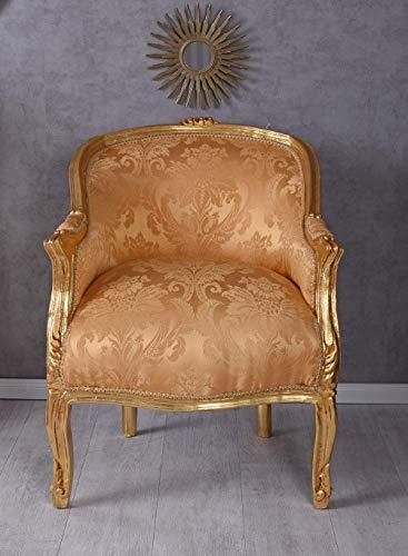 Barocksessel Sessel Bergere Gold Stuhl Barock Armlehnstuhl Armlehnsessel Antik cat660a06 Palazzo Exklusiv