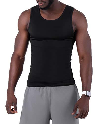 Camiseta Compresión Hombre - Camiseta Deportiva Hombre Compresion - Corrector Postura Espalda hombre - Afina la Cintura - Ropa Interior Hombre Efecto Faja Reductora - Camisetas sin Manga Hombre
