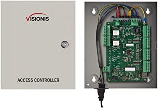 Visionis VS-AXESS-2ETL Two Door Network Access Control System Panel Controller Board and Power Supply Cabinet for 2 Doors ...