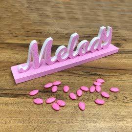 Viale Magico Polistirolo Personalizzati Nome in 3D con Base Colorata da personaliazzare (5-7 Lettere)