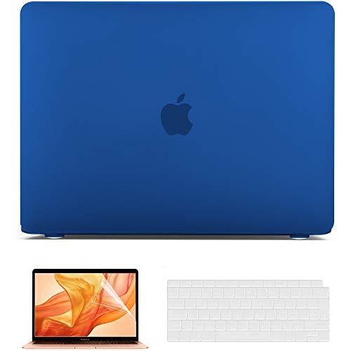 Belk Custodia MacBook Air 13 2020 2019 2018 Modello: M1 A2337 A2179 A1932, Plastica Rigida Cover + Copertura della Tastiera + Protezione dello Schermo, Blu Navy