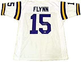 Matt Flynn Signed Lsu Tigers #15 White Jersey Autographed Memorabilia - Authentic Signature