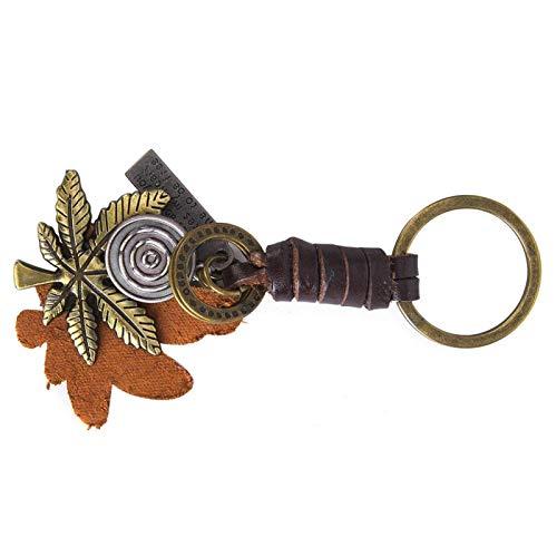 Jopwkuin Hoja de Arce Vintage llaveros Mujeres Llavero Regalo Novia Mejor Amigo Llavero Accesorios de Bricolaje Metal(Maple Leaf)