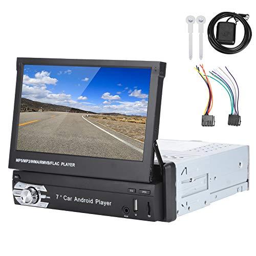 Navegación GPS universal para coche de 7 pulgadas, reproductor multimedia MP5 para coche con pantalla telescópica Radio estéreo USB Bluetooth para Android 1 Din(Auto pop-up)