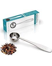 Cuchara Medidora Teabloom Perfecta para Té a Granel - Cuchara de Té de Acero Inoxidable Pulido