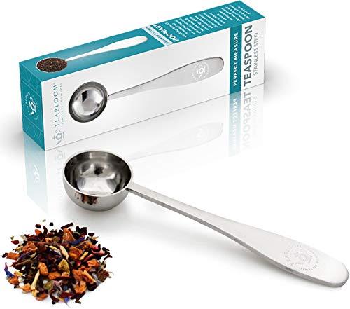 Teabloom Perfect Measure Loose Leaf Tea Spoon - Premium Quality Stainless Steel Tea Scoop