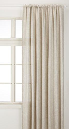 Vallila Westend, Gewebt, Vorhang 140x250 cm, Weiss, Polyester, 250 x 140 cm