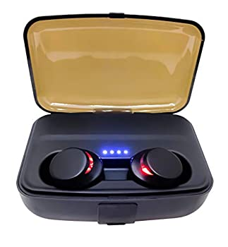 DENT Wireless Bluetooth Earbuds Waterproof IPX7 Headphones with Portable 3,000 mah Extra Large Capacity Charger Case Battery HD Sound Quality Noise Canceling
