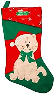 16 1/2 Inch Felt Christmas House Family Pet Christmas Stocking (Cat) by Greenbrier