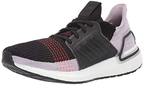 adidas Women's Ultraboost 19 w Running Shoe, Core Black/Soft Vision/Solar Red, 8 UK