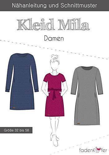 Stoffe Werning Schnittmuster Fadenkäfer Kleid Mila - Damen in den Größen 32 bis 58 Papierschnittmuster