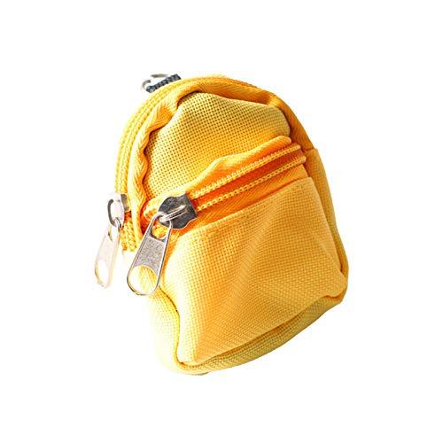 Accesorios para muebles de casa de muñecas, 1/6 mini mochila de muñeca simulación bolsa escolar modelo casa de muñecas accesorio de decoración - amarillo