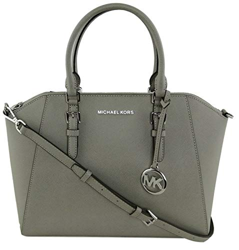 Michael Kors Large Ciara Top Zip Womens Saffiano Leather Satchel...