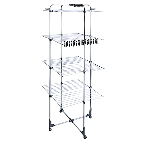 Amazon Basics AmazonBasics 4-Tier Deluxe Tower Airer Dryer Laundry Rack, Meters, 45 m