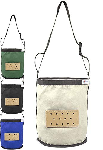 Derby Originals Leather Vented Canvas Feed Bag with Padded Noseband and No-Waste Flap Design, Full Horse, White (2019 Revision)