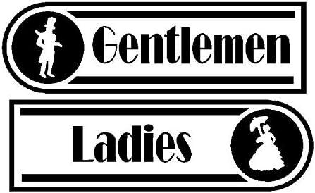 Wall Sale Financial sales sale price Decal Stickers Toilet Door Ladies Pub Signs Restu Gentlemen