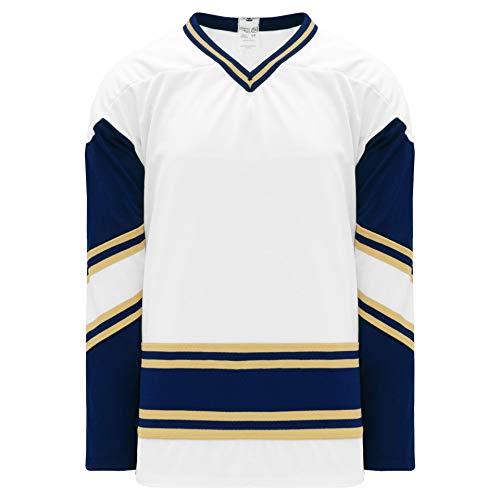 Notre Dame White V-Neck Pro Plain Blank Hockey Jerseys