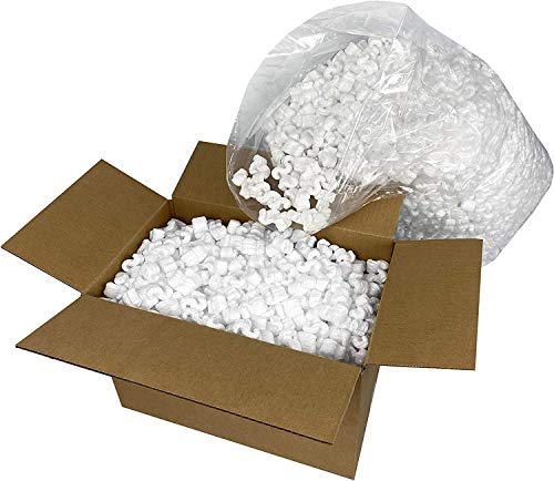 Gpack Biodegradable Packing Peanuts Shipping Peanuts Keep Packaging Safe, White Anti Static Polystyrene Packing Peanuts are Better Than Styrofoam Peanuts Packing Supplies Loose Fill 1 Cubic feet