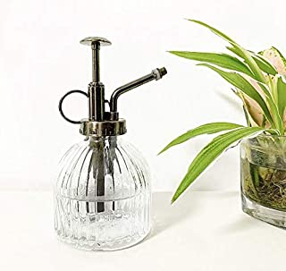 "MOAMI Plant Mister - 6.3"" Tall Glass Water Spray Bottle with Plastic Top Pump, Glass Watering Spray Bottle Vintage Small W..."