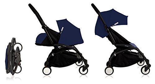 Babyzen Yoyo+ Stroller Complete - Black Frame - 0+ Newborn Pack - 6+ Color Pack...