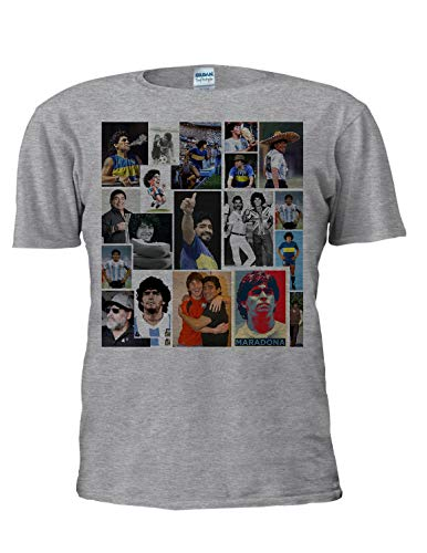 Diego Maradona Camiseta de fútbol Deporte Leyenda Argentina Tee Copa del Mundo...