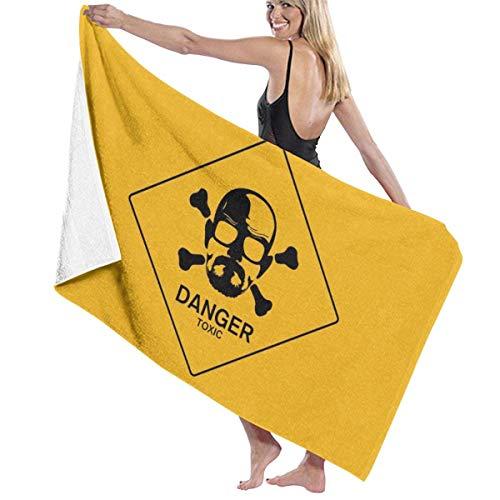 dingjiakemao Breaking Bad Danger Toalla De Playa De Microfibra Toalla De Baño De Secado Rápido Estera De Picnic Uso Multipropósito para Mujeres Hombres 80X130Cm