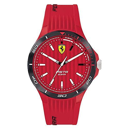 Scuderia Ferrari Herren Analog Quarz Uhr mit Silikon Armband 0830781