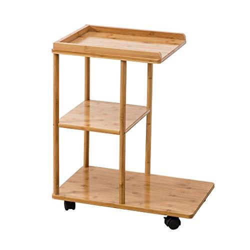 Tables basses Chariot à thé Salon Mobile Petite côté canapé Quelques Tables de Chevet Mini Table d'appoint Moderne (Color : Brown, Size : 50 * 31.5 * 60.5cm)